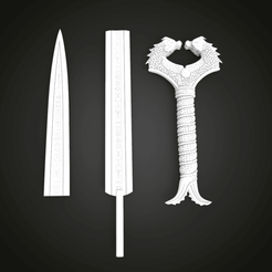 Download free STL file Wonder Woman Cosplay Sword • 3D printer template, Boris3dStudio