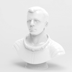 untitled.263.png Download free STL file Gagarin Bust • 3D printable model, Boris3dStudio