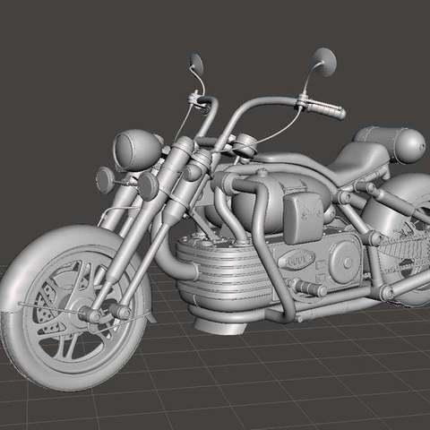 Download free 3D printer model Chopper bike, Boris3dStudio