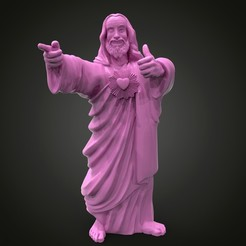 Download free 3D printing files Jesus from Dogma, Boris3dStudio