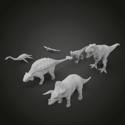 Download free STL Dino pack, Boris3dStudio