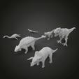 Download free STL Dino pack, Boris3dStudio