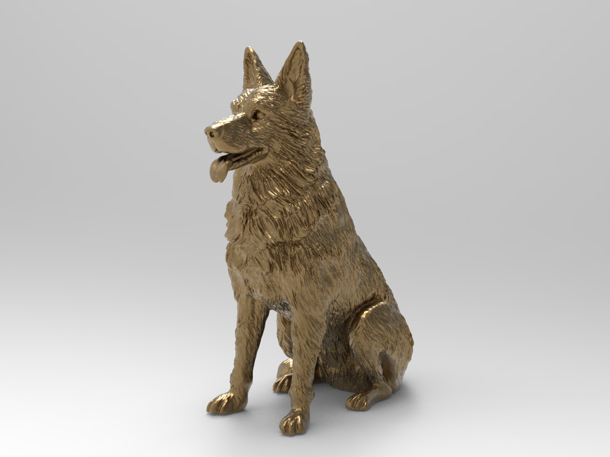 untitled.223.png Télécharger fichier STL gratuit Chien de berger d'Europe de l'Est (allemand) ( remix challenge ) • Modèle imprimable en 3D, Boris3dStudio