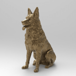 Download free 3D printer model East-European (German) Shepherd dog ( remix challenge ), Boris3dStudio