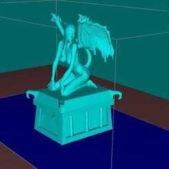 Impresiones 3D gratis Súcubo en una tumba NSFW, Boris3dStudio