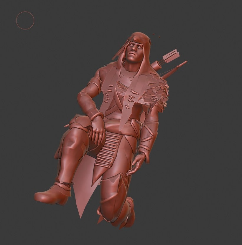 087b380343e3c17999897284e5fa44ed_display_large.jpg Download free STL file Hunter • 3D print template, Boris3dStudio