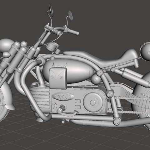 00b45e192c6c4bc08038cc37c35b6d82_display_large.jpg Download free STL file Chopper bike • Model to 3D print, Boris3dStudio