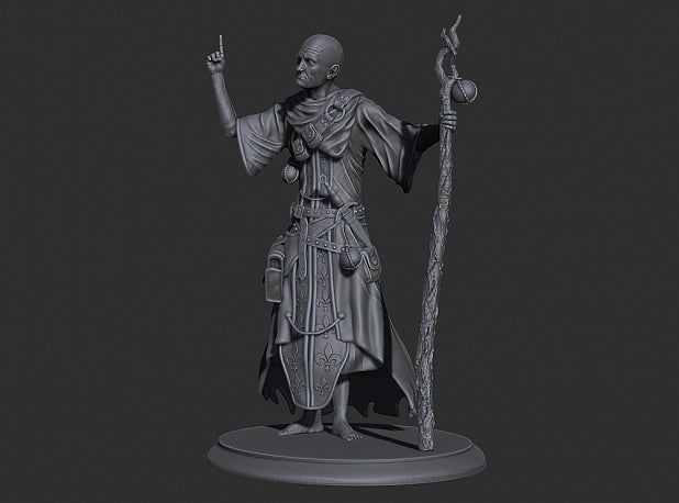 7087165e64d7f8ae15cb714c124fc542_display_large.jpeg Download free STL file Old Priest (Warlock) • 3D printer design, Boris3dStudio
