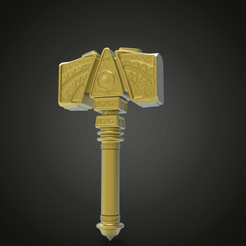 untitled.294.png Download free STL file Mjölnir • 3D printing object, Boris3dStudio