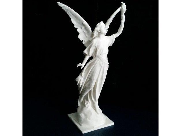 5cfacdaa83e5f2cfbf2f3d654e993bf6_display_large.jpg Download free STL file Angel statue with fire • 3D printer template, Boris3dStudio