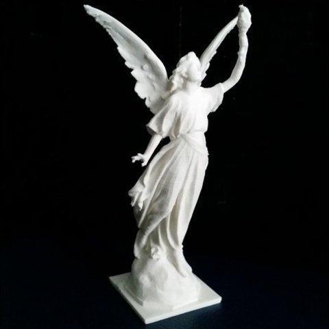 Download free 3D printer templates Angel statue with fire, Boris3dStudio
