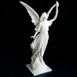 Descargar modelo 3D gratis Estatua de ángel con fuego, Boris3dStudio