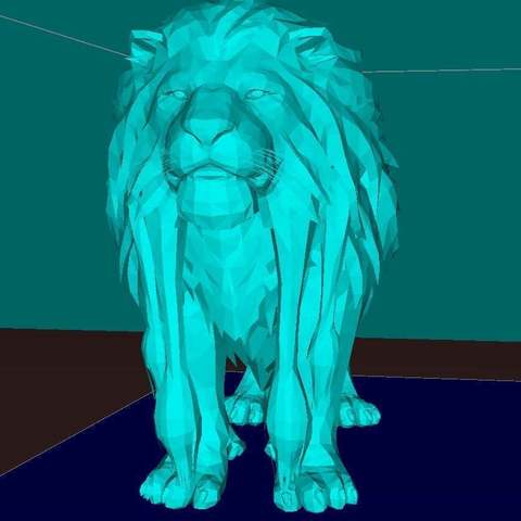 d15b8684541c6a54f57ce307d535a312_display_large.jpg Download free STL file Lion, king of the animals • Template to 3D print, Boris3dStudio