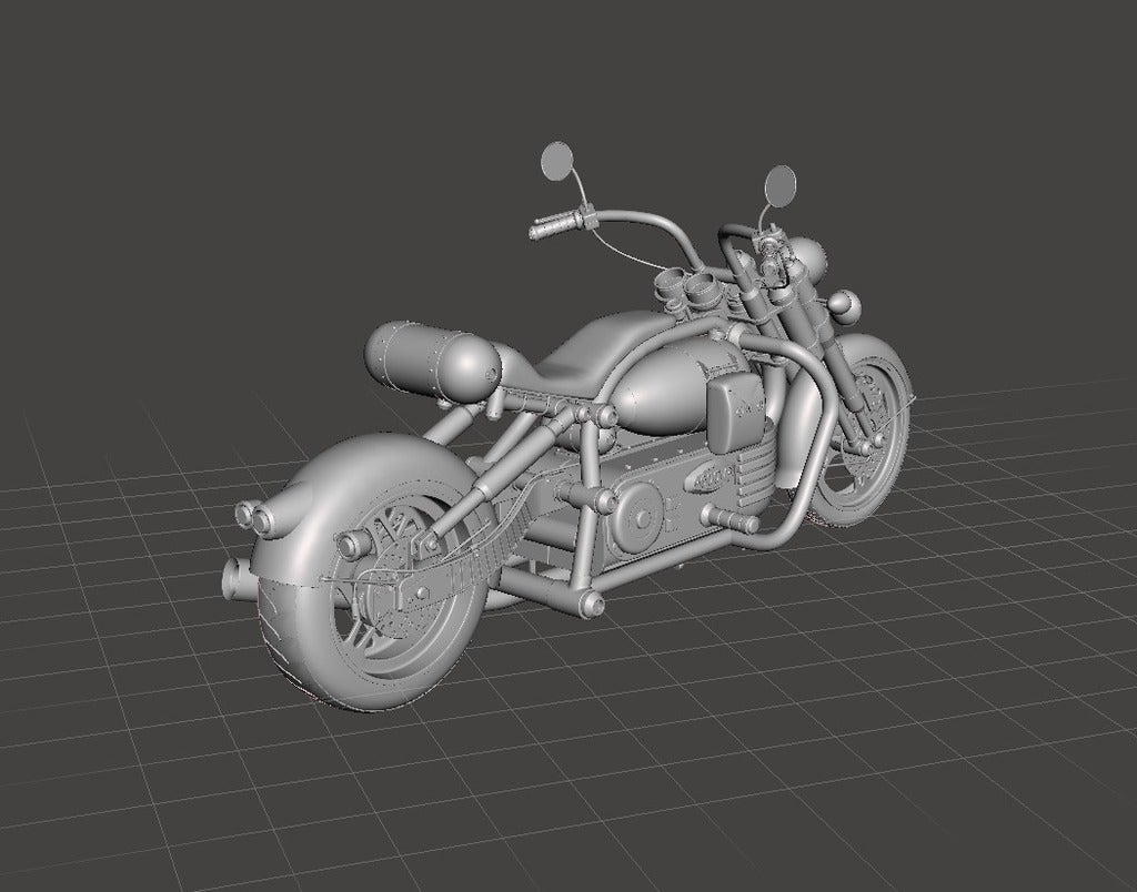 b38853e4f246918484c725d2c677b329_display_large.jpg Download free STL file Chopper bike • Model to 3D print, Boris3dStudio