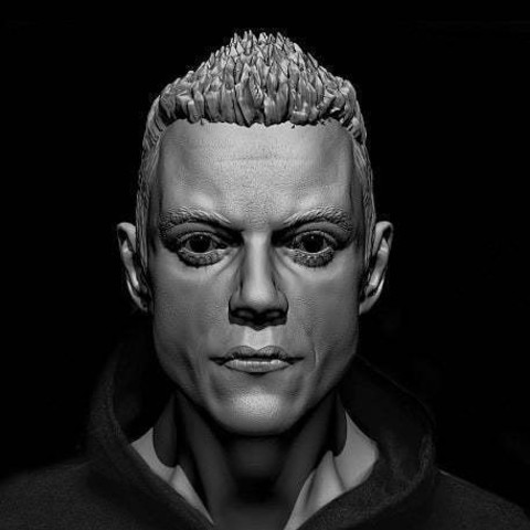 Download free 3D printer files Elliot (Mr. Robot)  Rami Malek, Boris3dStudio
