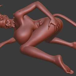Download free 3D printer files Demon Girl succubus NSFW, Boris3dStudio