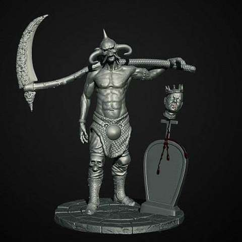 Download free STL file Soul Reaper demon hunter, Boris3dStudio