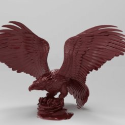 Download free 3D printer designs Golden eagle, Boris3dStudio