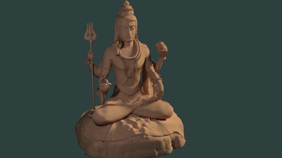 9f28b5f88695212ca0ceef48a051554a_display_large.jpg Download free STL file Statue of Shiva in the lotus position at Murudeshwar • 3D printing model, Boris3dStudio