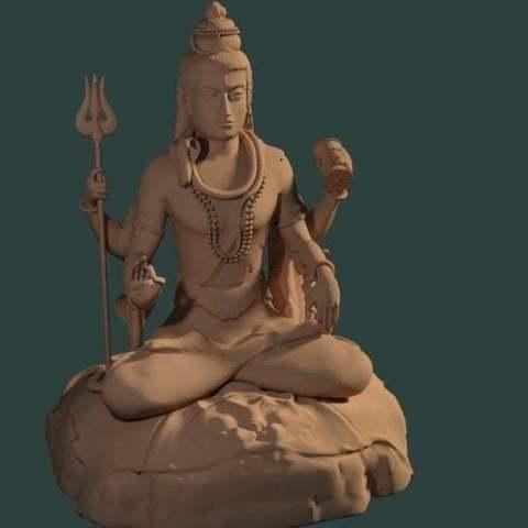 Download free 3D printing files Statue of Shiva in the lotus position at Murudeshwar, Boris3dStudio