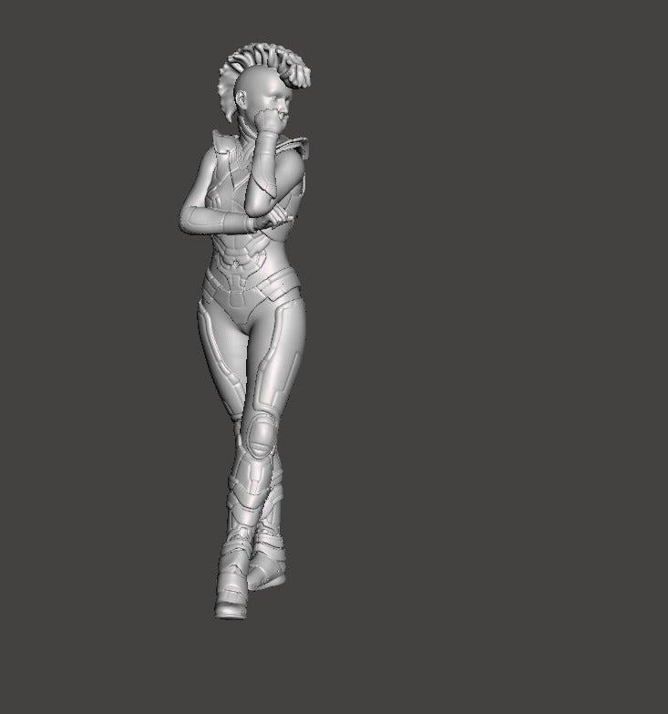 21de18c303aaa1f705c487deeefc6a47_display_large.jpg Download free STL file Cyberpunk Girl • 3D printing object, Boris3dStudio