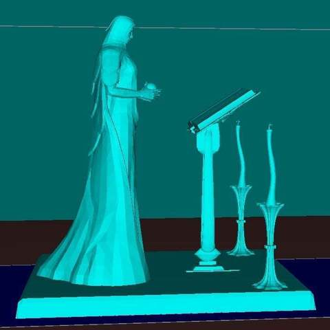 077c8c7d23ab4a43fea993a6f4c513d3_display_large.jpg Download free STL file Female Mage Sorcerer • 3D print design, Boris3dStudio