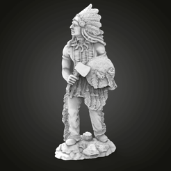 untitled.325.png Download free STL file Indigenous miniature (+ indian bonus for CNC) • 3D printing template, Boris3dStudio