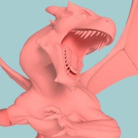 Télécharger modèle 3D gratuit Charizard Dragon réaliste, Boris3dStudio