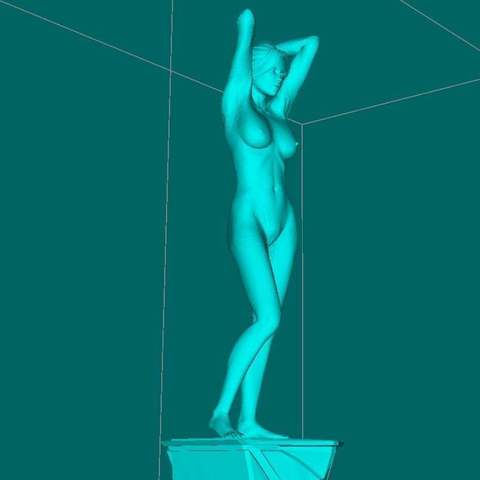 Download free 3D printing models Posing girl NSFW, Boris3dStudio