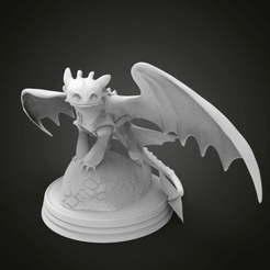 Download free 3D printer files Toothless Diorama, Boris3dStudio