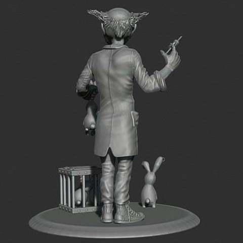 63cf98dafd309c8dfdee7b075ed07602_display_large.jpg Télécharger fichier STL gratuit Lapins zombies • Modèle pour impression 3D, Boris3dStudio
