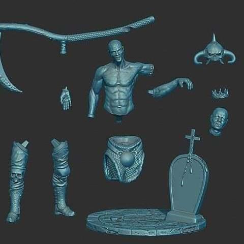 1d5fb3c36a1b1f17be38c44f10852701_display_large.jpeg Download free STL file Soul Reaper demon hunter • 3D print object, Boris3dStudio