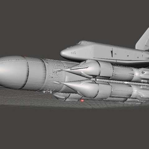 Download free 3D printer model Energiya Buran (Russian Space