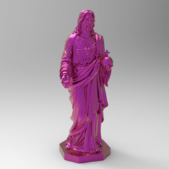 untitled.256.png Download free STL file Jesus for remixes • 3D printable object, Boris3dStudio
