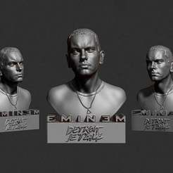 Download free STL files Eminem bust, Boris3dStudio