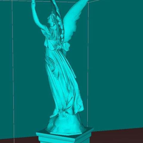 93dd1e06e1769cae48862d2069f3e19b_display_large.jpg Download free STL file Angel statue with fire • 3D printer template, Boris3dStudio