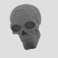 untitled.150.jpg Download free STL file Kapala Carved skull • 3D printing model, Boris3dStudio