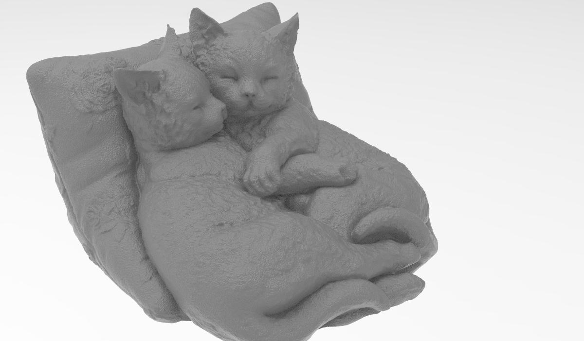 KOZ.1875.png Télécharger fichier STL gratuit Chatons qui dorment • Plan pour impression 3D, Boris3dStudio