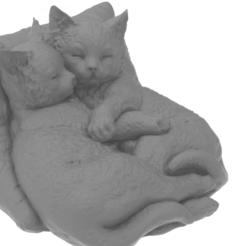 KOZ.1875.png Download free STL file Sleeping kittens • 3D print design, Boris3dStudio