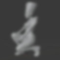 Télécharger fichier imprimante 3D gratuit Néfertiti moderne, assis corps plein, Boris3dStudio