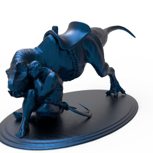 untitled.216.png Télécharger fichier STL gratuit Dino Rider • Modèle pour impression 3D, Boris3dStudio