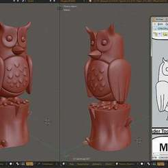 Download free 3D printer model Effective Manager owl (Сова Эффективный менеджер) Russian mem, Boris3dStudio