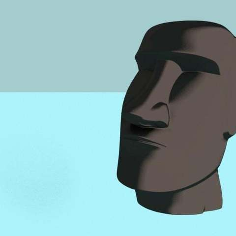 Download free STL files Easter Island Head moai, Boris3dStudio