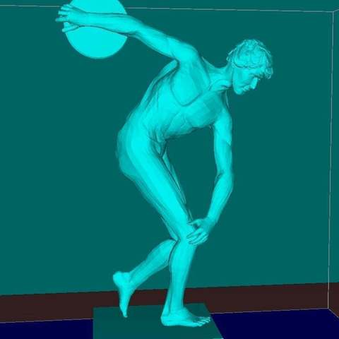 Download free 3D printer designs Discus throw man, Boris3dStudio