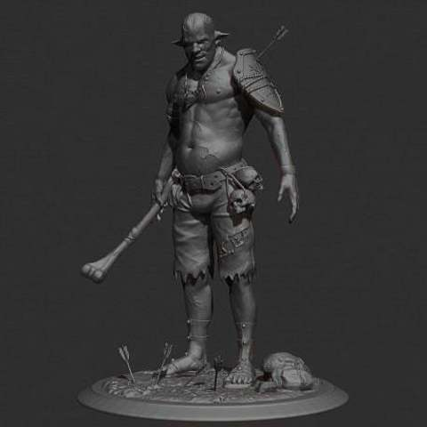 Download free STL file Cannibal tabletop figure, Boris3dStudio