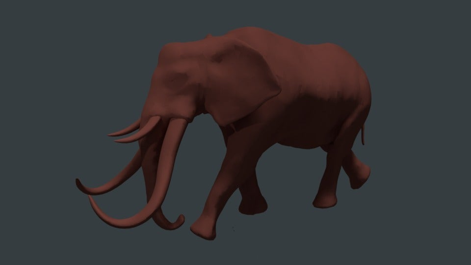 93af242d37ad1736ba4bbce881b2c19d_display_large.jpg Download free STL file Gomphothere elephant with 4 tusks • 3D printing object, Boris3dStudio