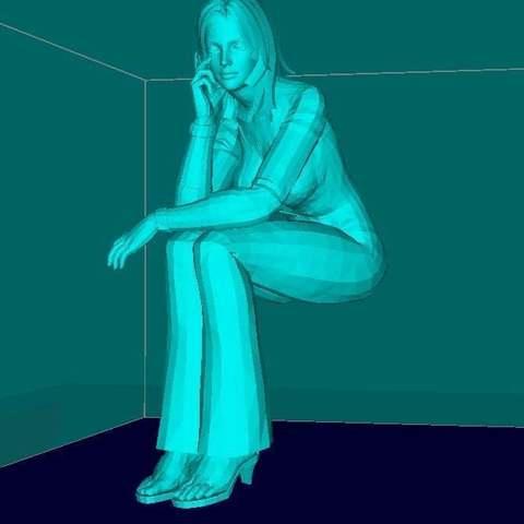 Télécharger modèle 3D gratuit La fille qui s'assoit sur ton moniteur, Boris3dStudio