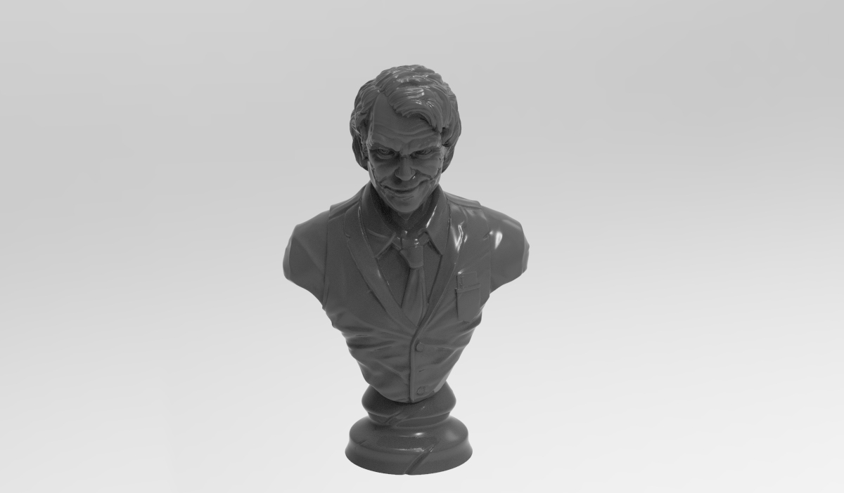 untitled.86.jpg Télécharger fichier STL gratuit Buste de joker • Design à imprimer en 3D, Boris3dStudio