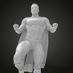 Download free STL file SuperMan on pose stand • 3D print design, Boris3dStudio