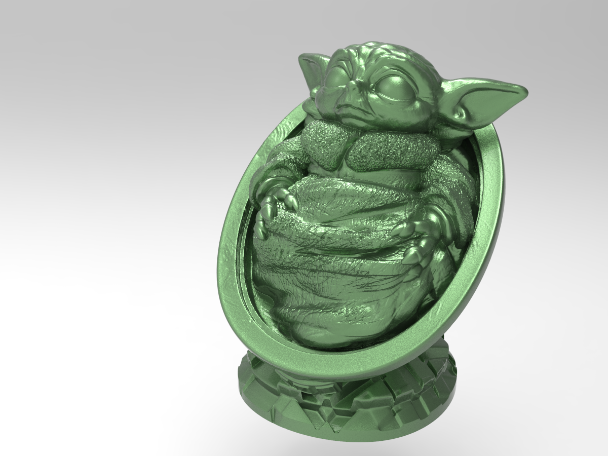 BBY.png Download free STL file Baby-Yoda • Model to 3D print, Boris3dStudio